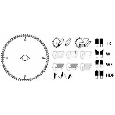 HM cirkelzaagblad Ø 400 voor afkortzaag 84 tanden WF