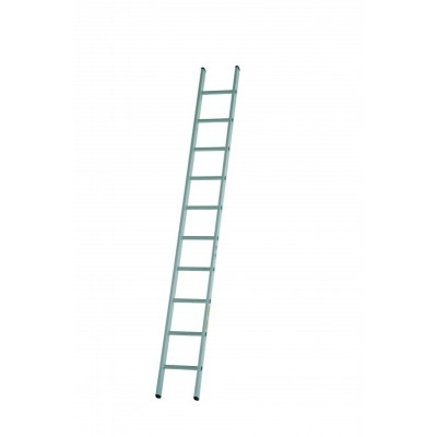 Dirks enkele rechte ladder 16 trede DOE 16 ongecoat