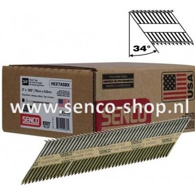 Senco Stripspijker Ø3,1 HE58AABKR 80MM gegalvaniseerd geringd doos a 2.000 stuks
