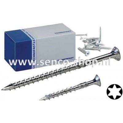 Spaanplaatschroef Plus HBS 6,0 x 120 verzinkt torx doos a 200 stuks